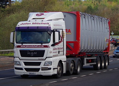 John Mitchell of Grangemouth MAN TGX SK11HCJ on the A90, Dundee, 2/5/16 (andyflyer) Tags: truck transport lorry grangemouth a90 haulage hgv johnmitchell roadhaulage mantgx roadtramsport sk11hcj