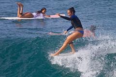 style (bluewavechris) Tags: ocean winter sea sexy water girl canon fun hawaii surf ride action surfer maui telephoto bikini surfboard thebay swell wetsuit honoluabay surfergirl honolua hangfive
