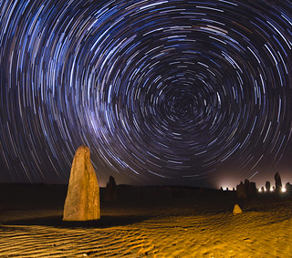 Star Trails at the Pinnacles Desert - Western Australia