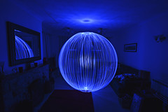366 2016 015 - Orbing, out of practice :-( (Ningaloo.) Tags: blue light home painting lounge orb lp ningaloo 015 2016 366