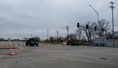 Missouri Army National Guard Humvees Blocking 141 at Valley Park, MO_20151231_100733c (Wampa-One) Tags: flooding military missouri nationalguard intersection roadclosed humvee hmmwv 141 militaryvehicles 2015 highmobilitymultipurposewheeledvehicle missourinationalguard valleyparkmo mo141 missouriarmynationalguard