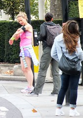 London Runner (Waterford_Man) Tags: road street people london girl path candid running run shorts jogging runner jog jogger