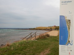 Knhaken beach on windy and cloudy October day (Flicker Classic Person) Tags: beach sign strand skne october sweden swedish nudist naturist sverige safe fkk helsingborg 2015 r knhaken