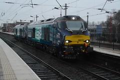 "Direct Rail Services Class 68's, 68018 ""Vigilant"" & 68019 ""Brutus"" (37190 ""Dalzell"") Tags: valencia cat brutus northwestern compass wigan vigilant drs vossloh directrailservices 68018 class68 68019 revisedswoosh"