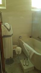 A bath room inside the Fordyce Bathhouse