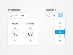 Time Picker (ijstheedribbble) Tags: inspiration apple design tv graphic screensaver popular dribbble iftt