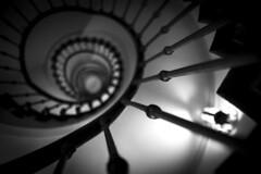 Infinity (akarakoc) Tags: light bw white black monochrome fuji f14 hauptbahnhof staircase fujifilm zrich hb treppenhaus xf 23mm xpro1 xf23mm xf23mm14