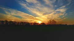 Snapshot pt.2 (pattaoverhage) Tags: sunset sun clouds landscape warm mood dorf outdoor sony feld land nrw alpen landschaft acker niederrhein alpha5100