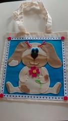 sacola de cachorrinho (feito a mao, feito a feltro) Tags: de cachorro feltro cachorrinho sacola