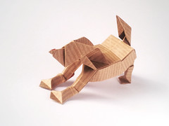 Doggy (k0v1) Tags: dog origami little box doggy playful papercraft pleating
