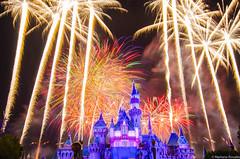 Disneyland Fireworks (MarianaRosales) Tags: fireworks disneyland mickeymouse sleepingbeautycastle
