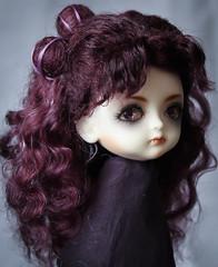 commission wig (SophyMolly) Tags: portrait moon anime doll long purple goat luna pixie fairy human curly wig mohair sailor angora custom commission wavy fairyland pio pero customdoll pukifee