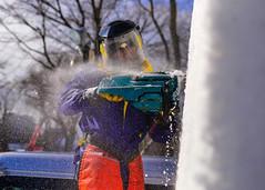 160131-N-OK605-025 (U.S. Pacific Fleet) Tags: chainsaw snowsculpture sapporosnowfestival navalairfacilitymisawa surfacewarfarepin