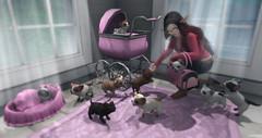House Full of Pups ([JIAN]) Tags: original dog pets house home animal animals puppy puppies mesh canine event secondlife animated companion jian newrelease gacha gachas poshpup