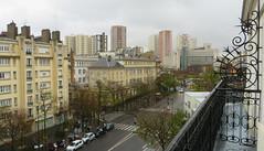 Place d'Italie, avec un soupon de Caillebotte (Robert Saucier) Tags: street paris building architecture hotel pavement balcony rue balcon 13e htel xiii placeditalie xiiie img8606 coypel bddelhpital htelcoypel