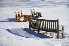 Winter garden (JPShen) Tags: winter snow tree garden bench chair chairs shades benches