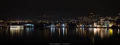 Lugano by night (Diego Pianarosa (aka Pinku)) Tags: light lake bulb night canon landscape lago switzerland ticino long exposure luci svizzera lugano soe notte 1022 buio lunga esposizione 70d