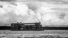 Delfin II (MudflapDC) Tags: travel cruise vacation bw peru water rain clouds river boat amazon jungle pe loreto excursion pacayasamirianationalreserve delfinii
