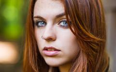 DSC_2298 (danielsuquitana) Tags: blue portrait white green girl model eyes nikon pretty day bokeh 85mm headshot redhead crop tight 18 d810