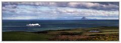 The Crossing (3,6,9 Seconds of light) Tags: blue sea panorama snow mountains cold ferry clouds canon coast scotland boat wake waves sailing ship stitch wind snowy scottish windy panoramic spray coastal po canon5d arran isleofarran manfrotto stranraer irishsea dumfriesandgalloway ailsacraig stitcher firthofclyde scottishscenery corsewall wigtownshire kirkcolm