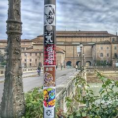 Parma, Italy (PSYCO ZRCS 10/12) Tags: street italy art graffiti sticker stickerart stickers vinyl pole worldwide slap parma smashed grilled tagging psyco bombing combo slaps stickerculture stickerporn stickerlife psycolovesyou stayveganstayhungry