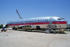 Ex-USAir 737 N200AU (Ian E. Abbott) Tags: tucson boeing boneyard usair 737200 airplanegraveyard 19418 boeing737200 piedmontairlines metallicobjects 737201 boeing737201 civilaircraftboneyard n200au n734n