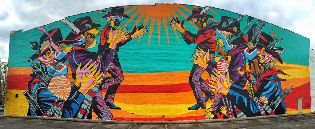 Native American Wall Mural (Pejasar) Tags: Building Art Wall Mural  Nativeamerican Arkansas Fortsmith Part 49