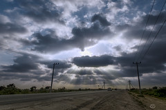 Sun Rays (mlahsah) Tags: road sun cars clouds nikon sunrays       nikond750