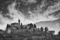 Il Falco d'Italia (drugodragodiego) Tags: blackandwhite bw italy castle architecture clouds landscape blackwhite nuvole pentax hawk brescia lombardia biancoenero falco tempesta k3 cidneo collecidneo pentaxiani pentaxda60250mm smcpentaxda60250mmf4edifsdm pentaxk3 pentaxhdafrearconverter14xaw