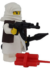 The Militant is Back! (jakewells91) Tags: guy army war gun lego military bad ak rpg terror minifig dynamite custom insurgent akm rpg7 brickarms