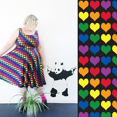 Love is love dress (airdrie.m) Tags: rainbow marriageequality loveislove rainbowhearts safeschoolsproject isupportmarriageequality