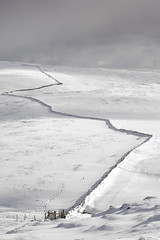 Snow drifts and boundary walls (Malajusted1) Tags: park winter shadow white snow simon sunshine sunrise yorkshire north forms walls fell drift yorkshiredales ingleton ingleborough yorkshiredalesnationalpark