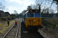 50017 at Wymondham (Adam McMillan Railway Photography) Tags: waiting head round runs coaches wymondham dereham 50017