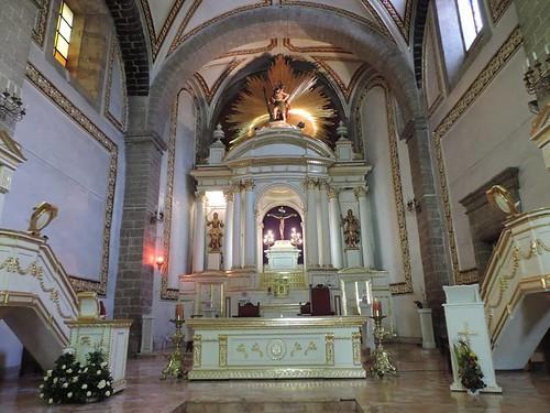 Altar Mayor, Templo del Exconvento Dominico, hoy Parroquia de San Cristóbal, Ecatepec, Edo. de México.
