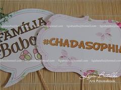 Plaquinhas/Fotos - Ch de Beb - Sophia (Ligia Batalha) Tags: passarinho jardim borboletas chdebeb