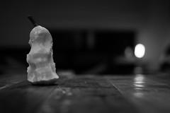 098-365 Pear (cohenvandervelde) Tags: camera bw monochrome fruit 35mm canon lights blackwhite flickr dof bokeh australia scout scene snap depthoffield explore creativecommons cowes primelens 550d apsc 365project flickriver cropsensor canon550d 365project2016 cohenvandervelde
