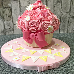 Giant cupcake candy shell