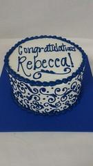 Congrats Cake (tasteoflovebakery) Tags: blue design congrats