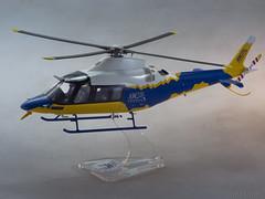 AW109 TREKKER Dimostr.giallo-blu - scale 1-32-1 (Maurizio Piazzai) Tags: model helicopter h madeinitaly prototipo trekker elicottero artigianato agustawestland finmeccanica aw109 dimostratore aw109trekker scala132