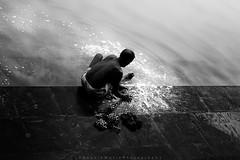 ||Washing|| (SouvikMetiaPhotography) Tags: morning travel portrait people blackandwhite india monochrome contrast nikon flickr outdoor documentary oldman stranger streetphoto dailylife bathing washing