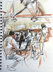 Big Basin Cafe (suhita1) Tags: people coffee saratoga coffeeshop urbansketch bigbasincafe