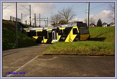 20160326-00006a (r_walther) Tags: star schweiz che snb asm wespe gelbschwarz stadler schmalspur kantonbern niederbipp ojb be48 solothurnniederbippbahn aareseelandmobil oberaargaujurabahn