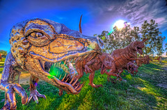 Dinosaur Attack! (Michael F. Nyiri) Tags: california sculpture art desert anzaborrego southerncalifornia metalsculpture temeculacalifornia ricardobreceda