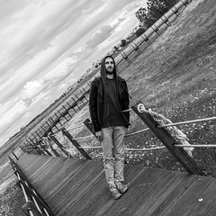 Forced Perspective (Miguel.Galvo) Tags: white black luz water monochrome strange field miguel canon day cloudy dam country perspective da barragem campo forced alentejo aldeia alqueva galvo 40d