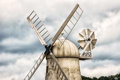 Usk Valley Windmill, Llancayo (technodean2000) Tags: uk sky food plant windmill field grass wales landscape sand nikon outdoor dune newport valley monmouth serene sk hay plain usk lightroom monmouthshire d610 llancayo