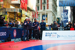 2016.04.27_100DaysToRio_0216 (justinhoch) Tags: newyorkcity unitedstates timessquare olympics teamusa usolympicteam kylesnyder unitedstatesolympicteam roadtorio jordanburroughs adelinegray 100daysout 100daystorio