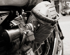 RHS of V2 (Jo de Cologne) Tags: travel bw classic twin bn retro motorbike moto motorcycle sw motor sportbike impressions impressionen lemans touring v2 caferacer reise guzzi 850 motocicleta motocycle motorrad motorcykel youngtimer motocicletta motocyclette dellorto zweirad motociclo motorrijwiel motorcycleontheroad motoimpressionen motorcycleimpressions phf36