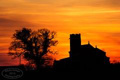 Norfolk Spring Sunset (Steven586) Tags: sunset tree tower church silhouette dark spring oak dusk norfolk f50 200mm iso160 1400sec wickmere