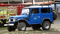 Blue Toyota Land Cruiser FJ40 (rendy52) Tags: car indonesia 4x4 taxi toyota landcruiser semeru toyotalandcruiser fj40 eastjava ranupani