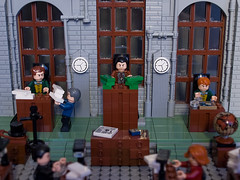 Factory office (crises_crs) Tags: boss window office lego desk chief worker steampunk zbudujmyto